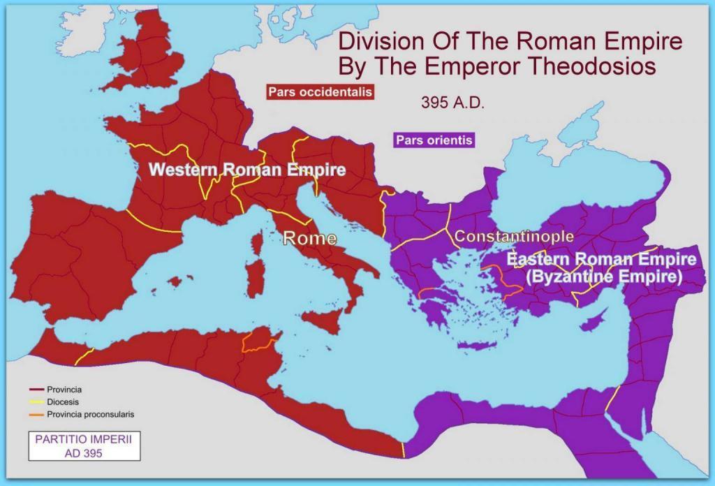 Byzantine Empire Map 395 AD