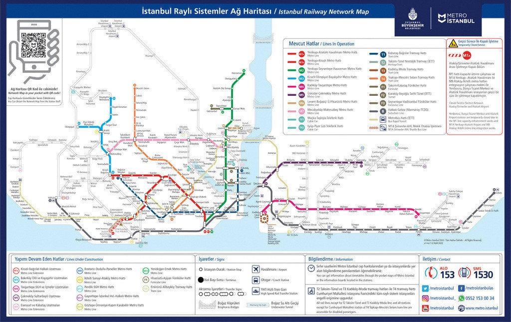 Istanbul Public Transport Map 2021