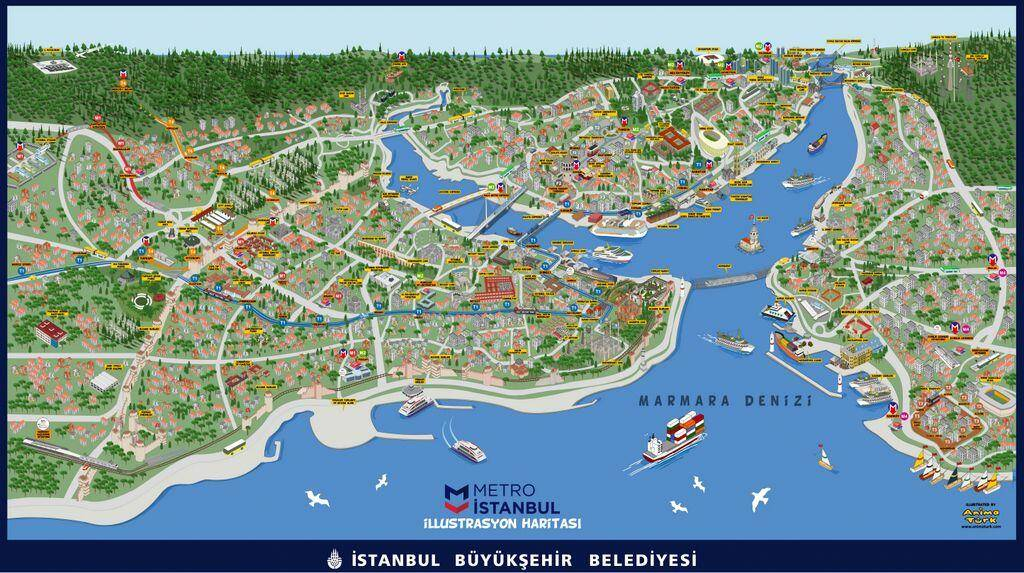 Asian Side of Istanbul Map