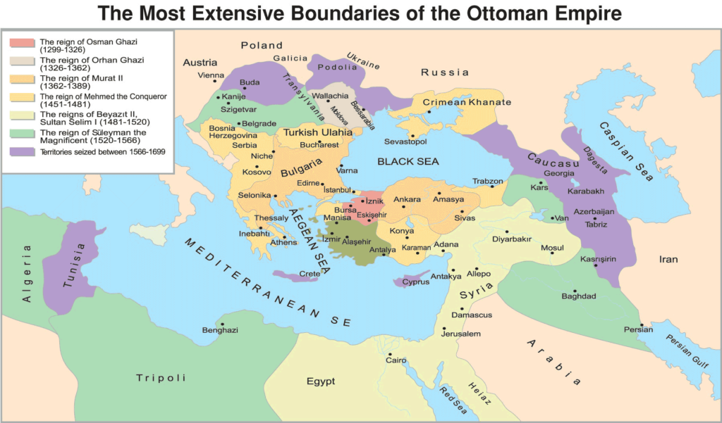 Ottoman Empire Map Over Time