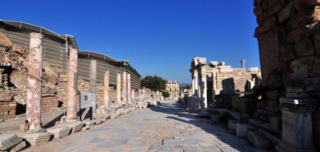 Curetes Street in Ephesus Ruins